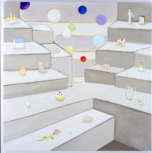 *4 candy box, 2009 acrylic on canvas 162.0 x 162.0 cm ©Masahiko Kuwahara