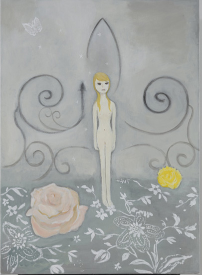 *6 princess room, 2009 acrylic on canvas 100.0 x 72.7 cm ©Masahiko Kuwahara