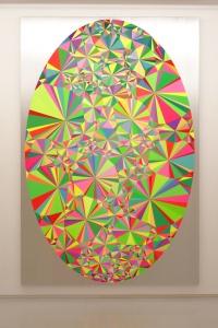 大野智史「Prism, Hospice.」2015, oil, acrylic on canvas mounted on panel, 270 ×  180 cm ©Satoshi Ohno