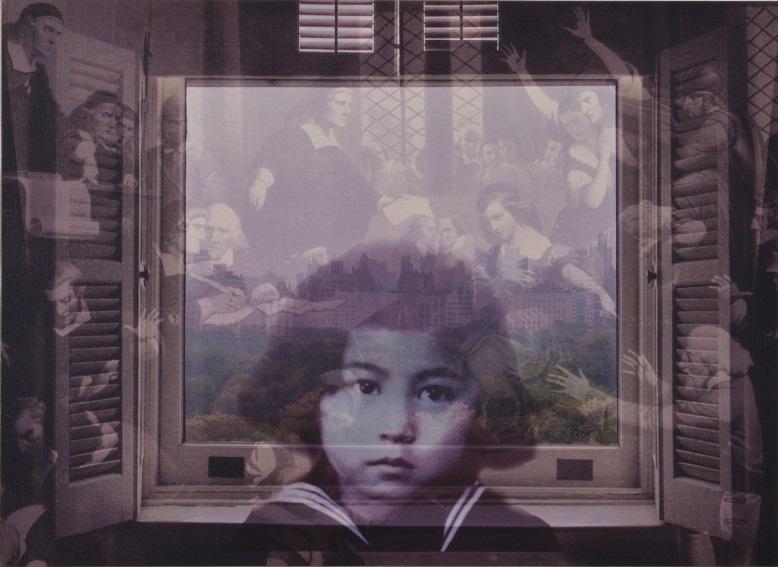 オノ・ヨーコ《FROM MY WINDOW: Salem 1692》2002年、顔料/カンヴァス、個人蔵 ©YOKO ONO 2015 Yoko Ono, FROM MY WINDOW: Salem 1692, 2002, Pigment on stretched canvas, Private Collection ©YOKO ONO 2015