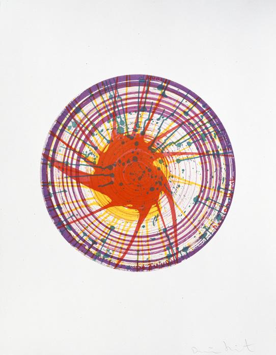 Round  2002  etching  91.5 x 71 cm  ©Damien Hirst