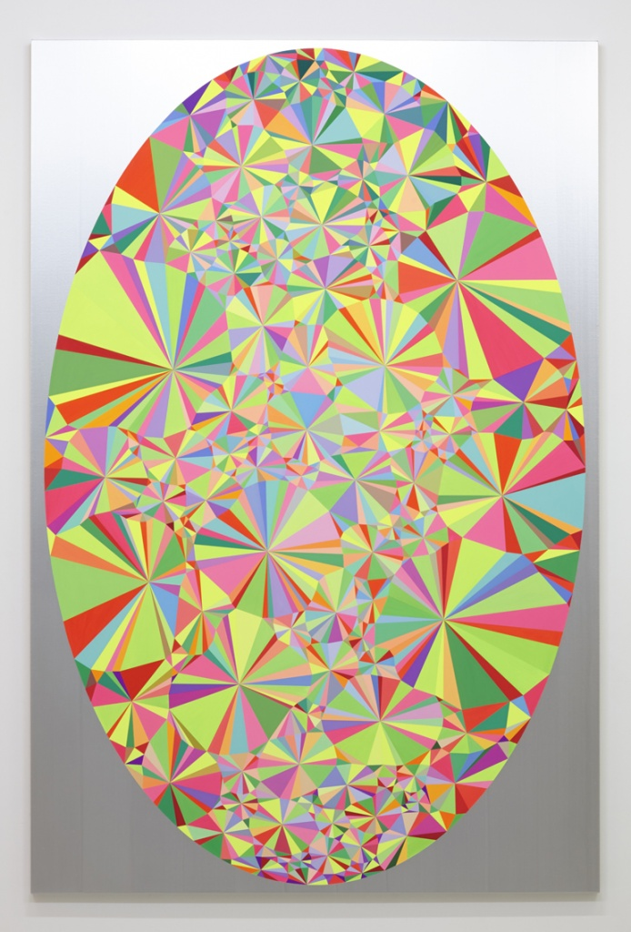 大野智史 SATOSHI OHNO Prism, Hospice. 2015 oil and acrylic on canvas mounted on panel 270.0 x 180.0 cm © Satoshi Ohno