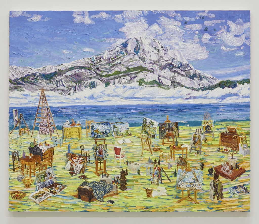 桑久保徹  Toru Kuwakubo Cézanne on the beach 2015 oil on canvas 61.5 x 73.5 cm © Toru Kuwakubo