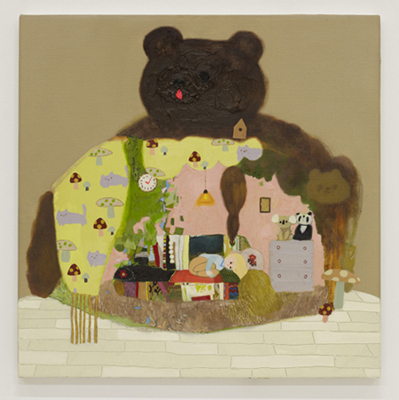 長井朋子 Tomoko Nagai くまのこハウス The Cub House 2015 oil on canvas 53.5 x 53.0 cm © Tomoko Nagai