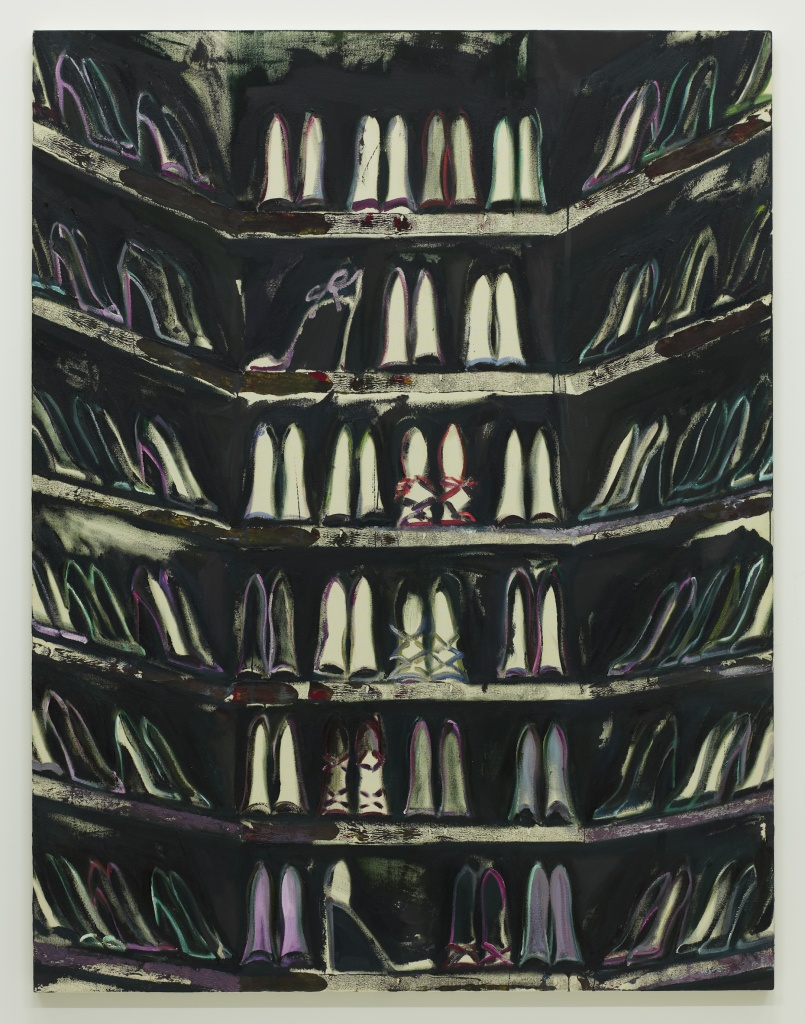 Shoe closet I 2015 acrylic, oil on canvas 146.0 x 112.0 cm ©Midori Sato
