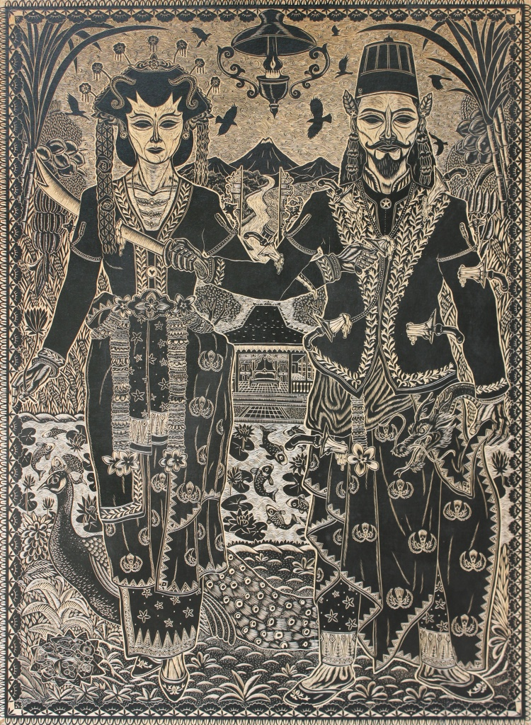 Drama of equality 2015 offset ink on mdf carvings 88.0 x 122.0 cm ©Mohamad 'Ucup' Yusuf