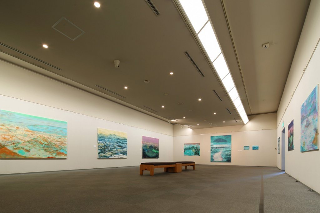 "Installation view from ""First Island – Last Mountain"" at  Ohara Museum of Art, Japan, 2016"